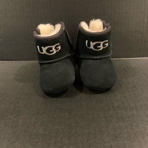 Baby Jesse Black Suede Ugg Boots Booties 0/1